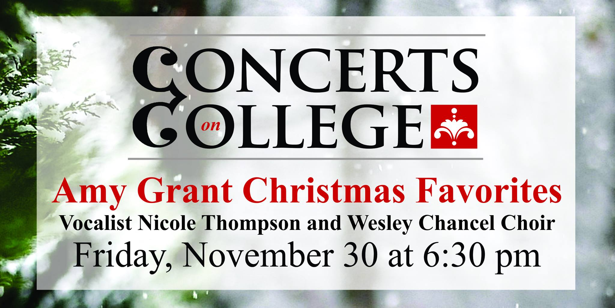Concerts On College – Amy Grant Christmas Favorites
